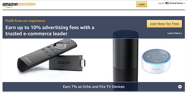Programme d'affiliation Amazon Associate