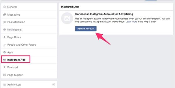 Lier ses comptes Instagram et Facebook