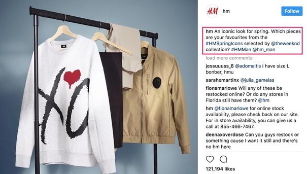 idée de contenu Instagram pour une marque de prêt à porter